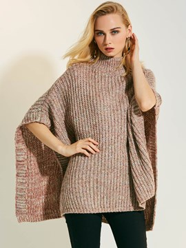 Ericdress High Neck Loose Pullover Knitwear