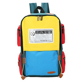 Ericdress Korean Style Color Block School Backpack