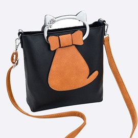 Ericdress Trendy Kitty Pattern Women Handbag