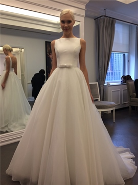 Ericdress A Line Backless Organza Wedding Dress