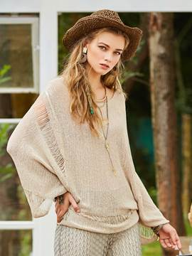 Ericdress Loose Hollow See-Through Hole Knitwear