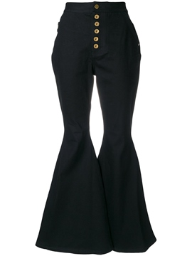 Ericdress high-waist bellbottoms button jeans
