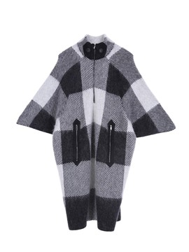 Ericdress Plaid Color Block Batwing Sleeve Knitwear