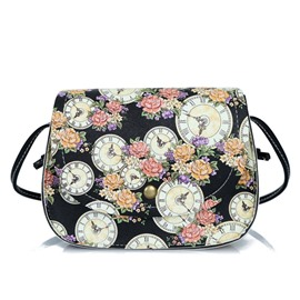 Ericdress Korean Style Floral Shelly Crossbody Bag