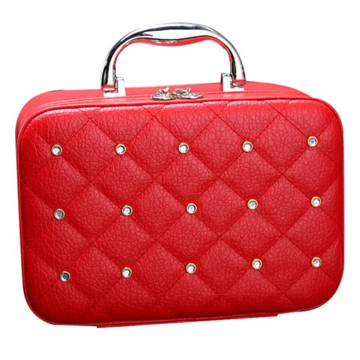 Ericdress Rhinestone Adornment Portable Cosmetic Bag