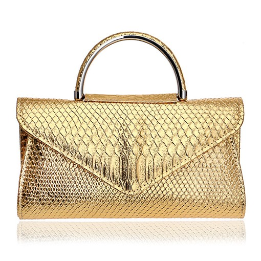 Ericdress Classic Snake Print Solid Color Clutch