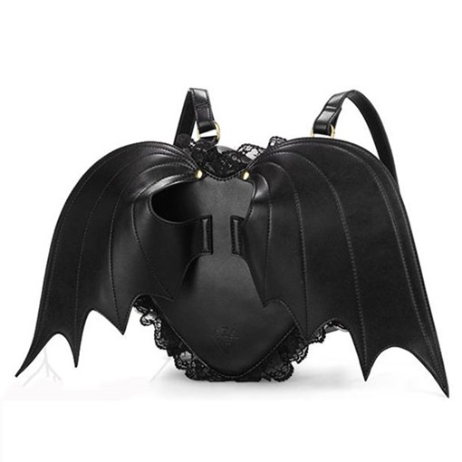 Ericdress Black Angle Bat Wings Batman Backpack