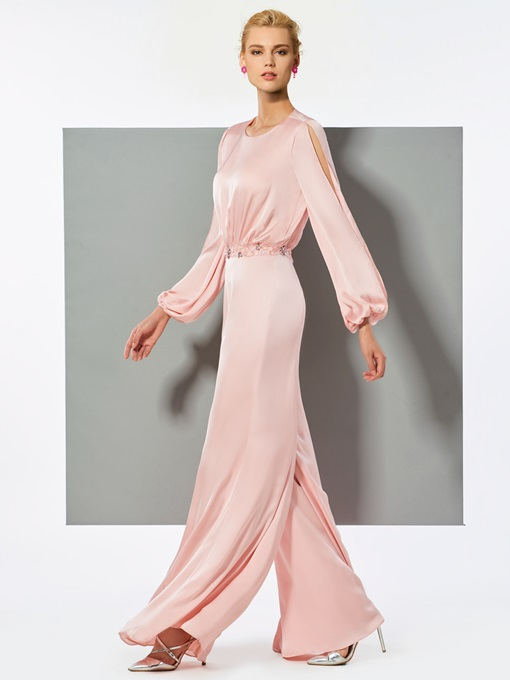 Ericdress A Line Long Sleeve Beaded Long Prom Jumpsuit