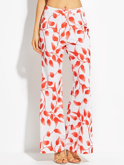 Ericdress Printed Elastics Flared Pants