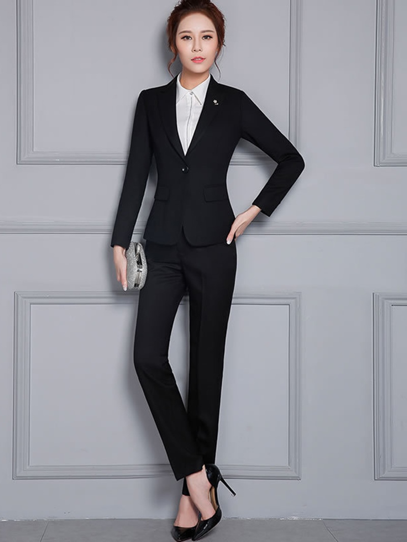 Ericdress_Notched_Lapel_One_Button_Suits