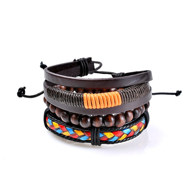 Ericdress Womens Colorful Leather Fashion Bracelet