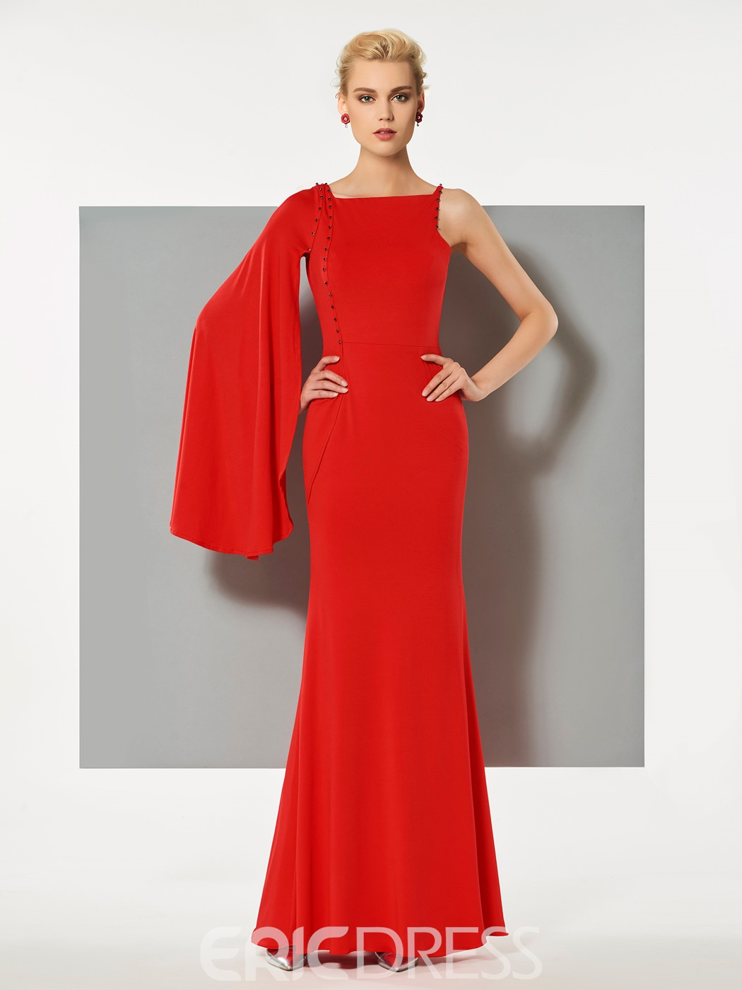 Ericdress Designer Sheath One Sleeve Floor Length Evening Dress