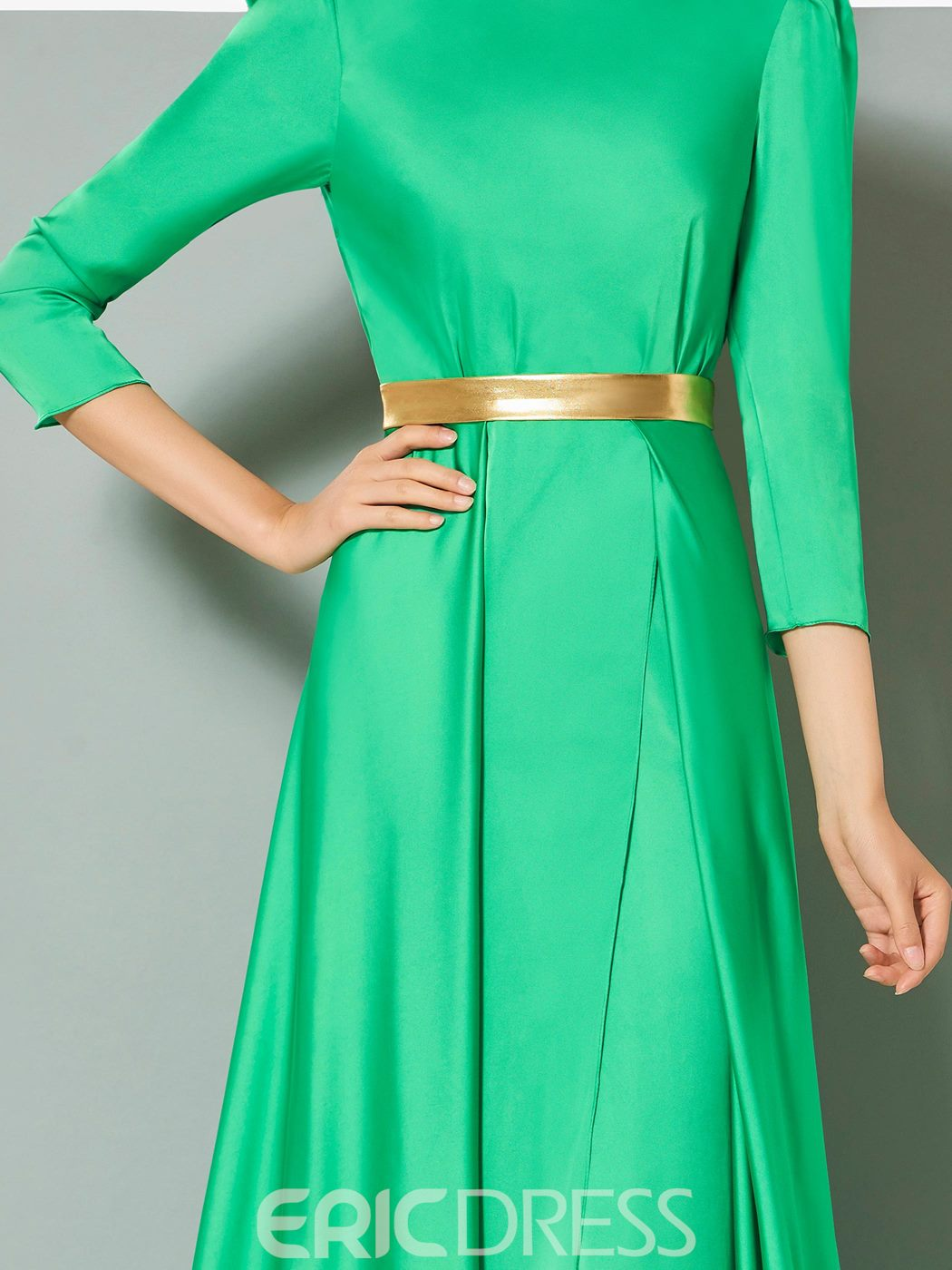 Ericdress A Line 3/4 Sleeve Side Slit Long Evening Dress