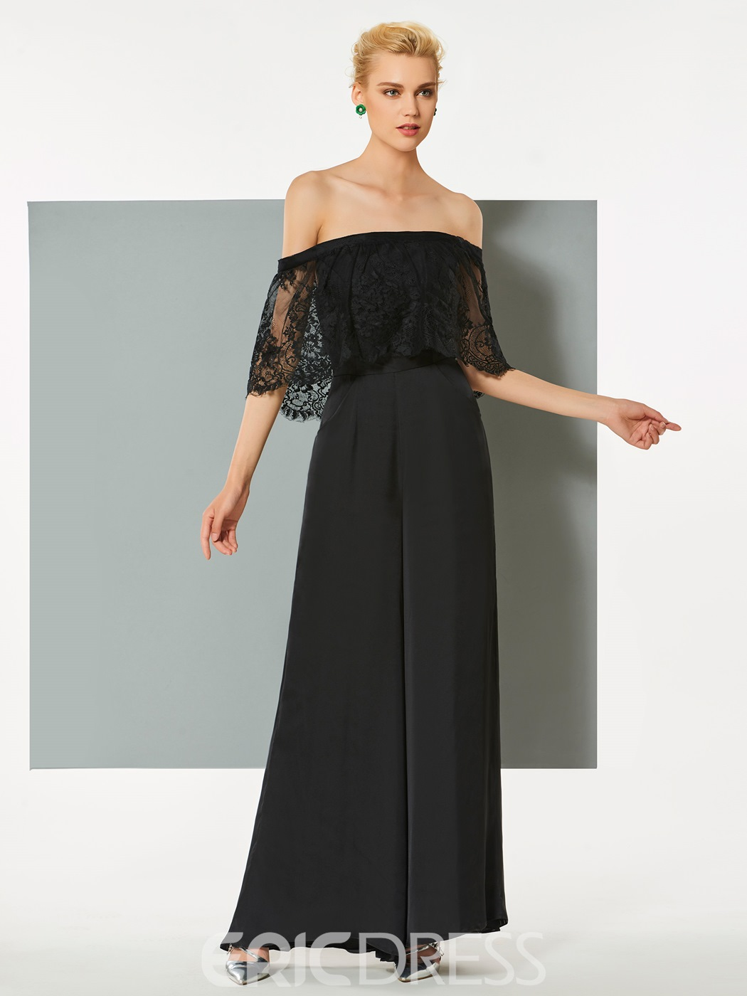 Ericdress Sheath Off The Shoulder Floor Length Long Evening Jumpsuit