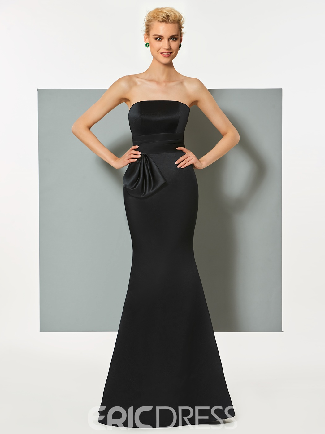 Ericdress Strapless Mermaid Formal Evening Dress With Bowknot