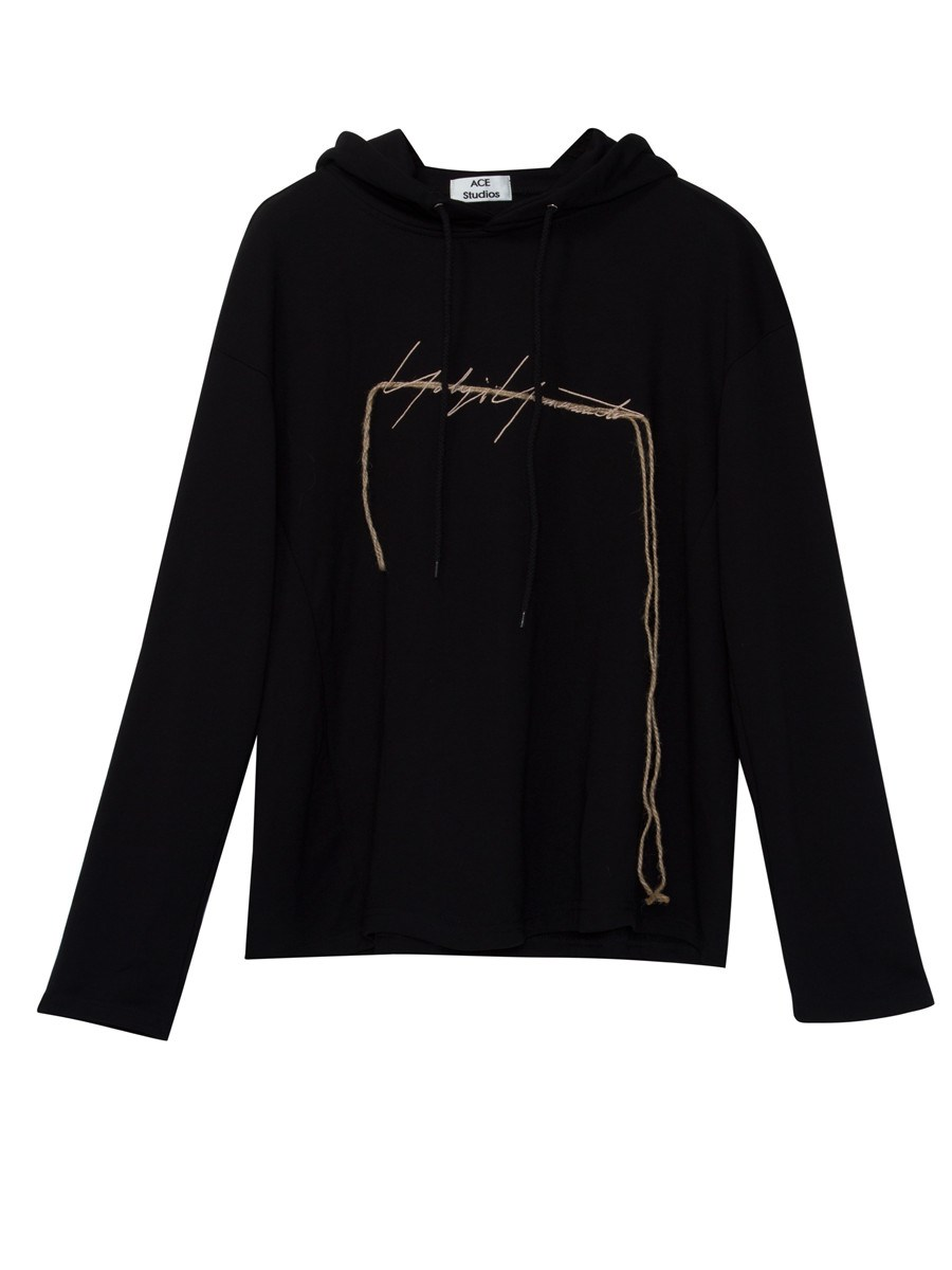 Ericdress Drawstring Letter Embroideried Pullover Cool Hoodie