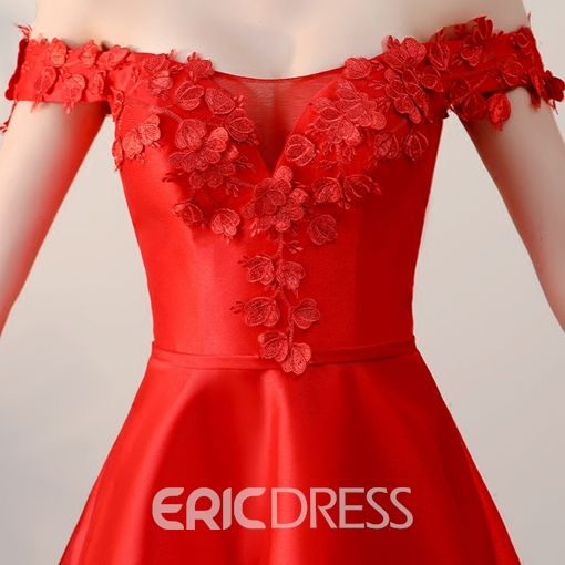 Ericdress A Line Applique Off The Shoulder Short/Mini Homecoming Dress