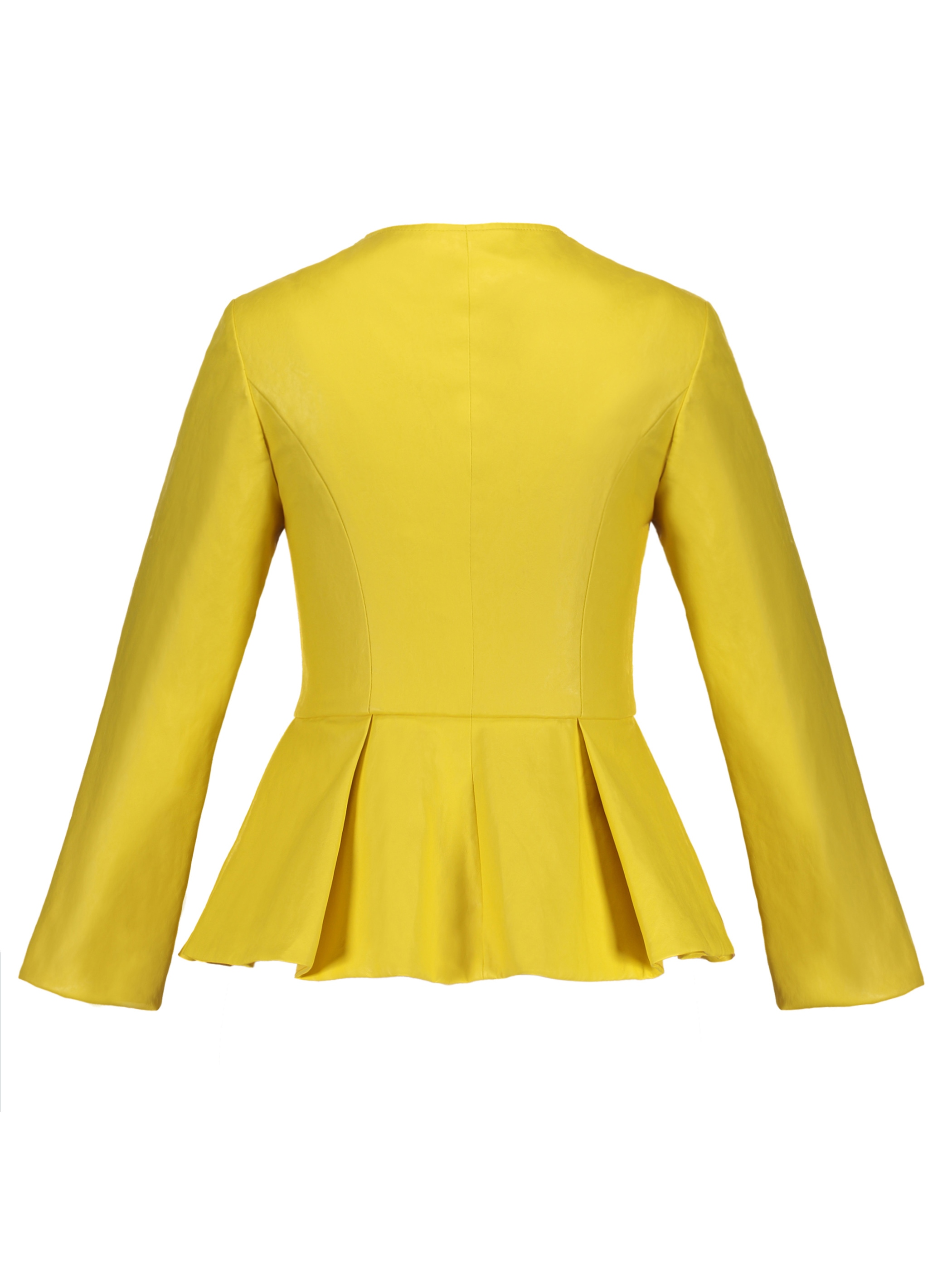 Ericdress Slim Zipper Ruffles Jacket