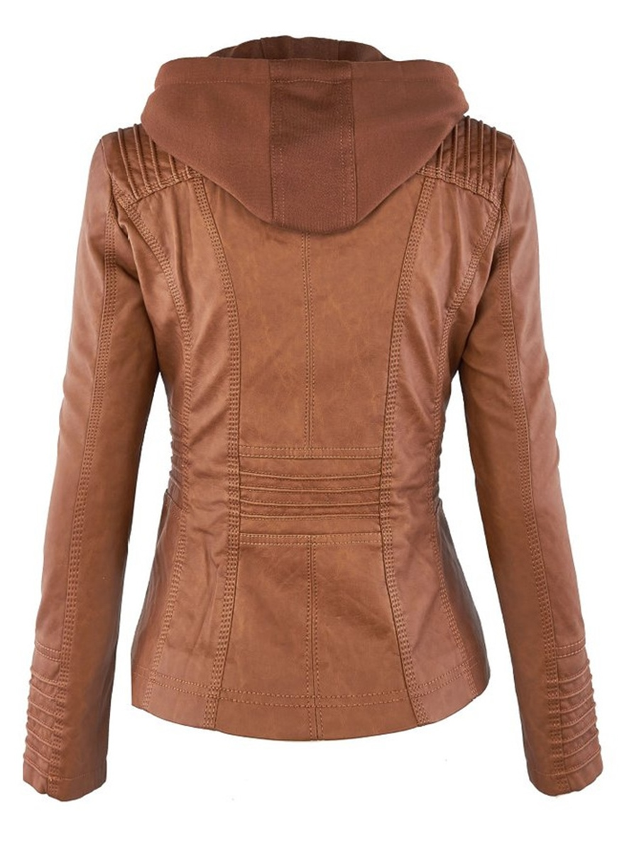 Ericdress Plus-Size Slim Double-Layer Hooded Women's Jacket