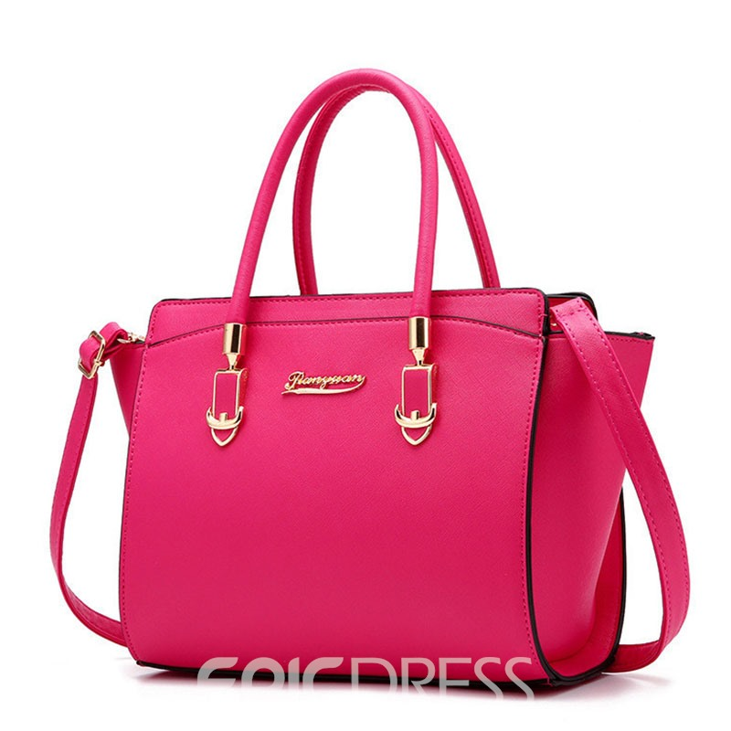 Ericdress Ladylike Solid Color Women Handbag