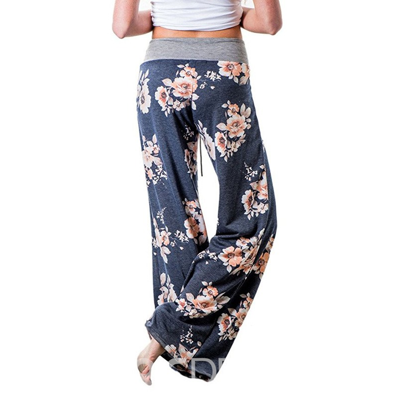 Ericdress Print Loose Lace-Up Women's Casual Pants