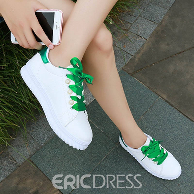 Ericdress Round Toe Low-Cut Flats with Beads