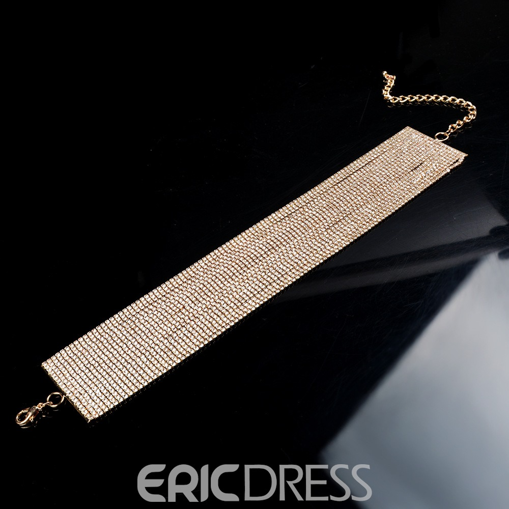 Ericdress Luxury Rhinestone Choker Necklace for Party