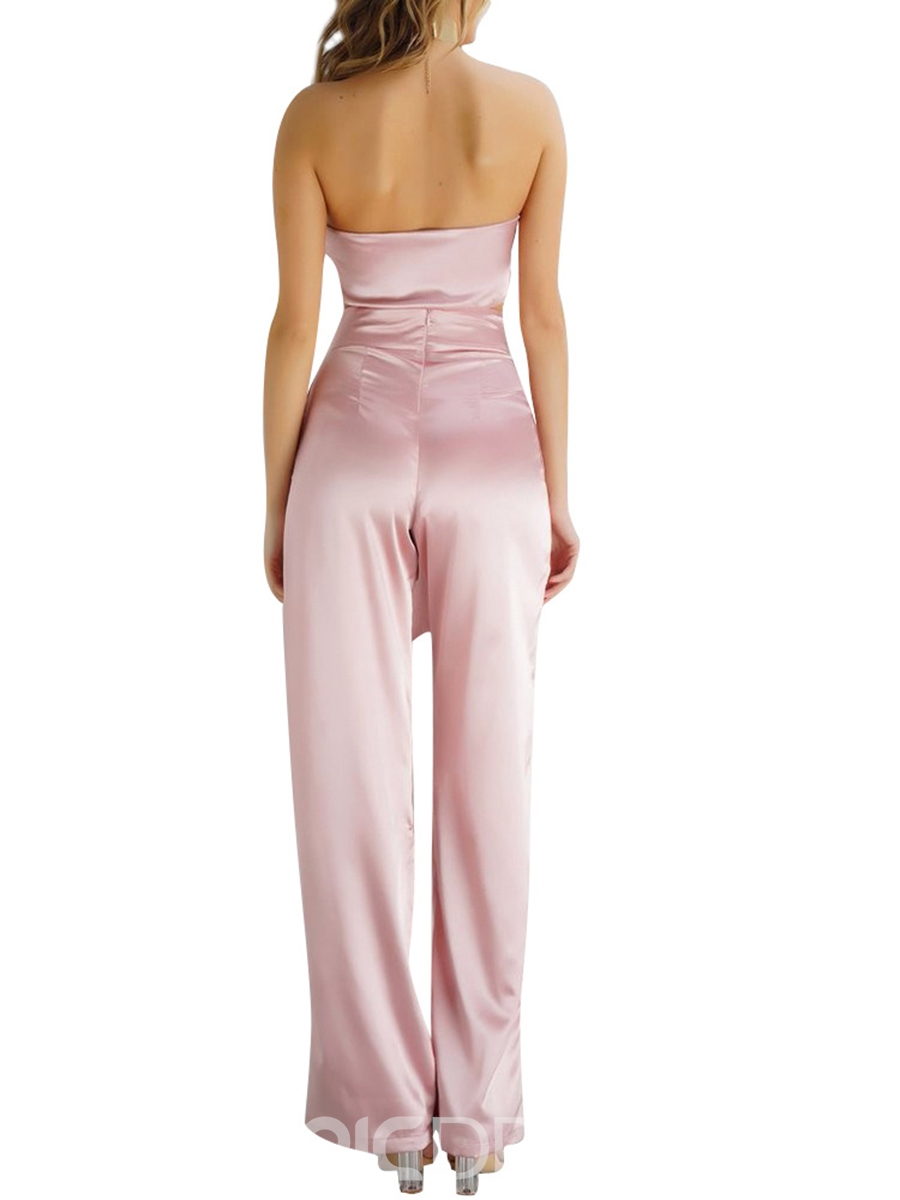Ericdress Lace-Up Vest and Pants Women's Two Piece Set