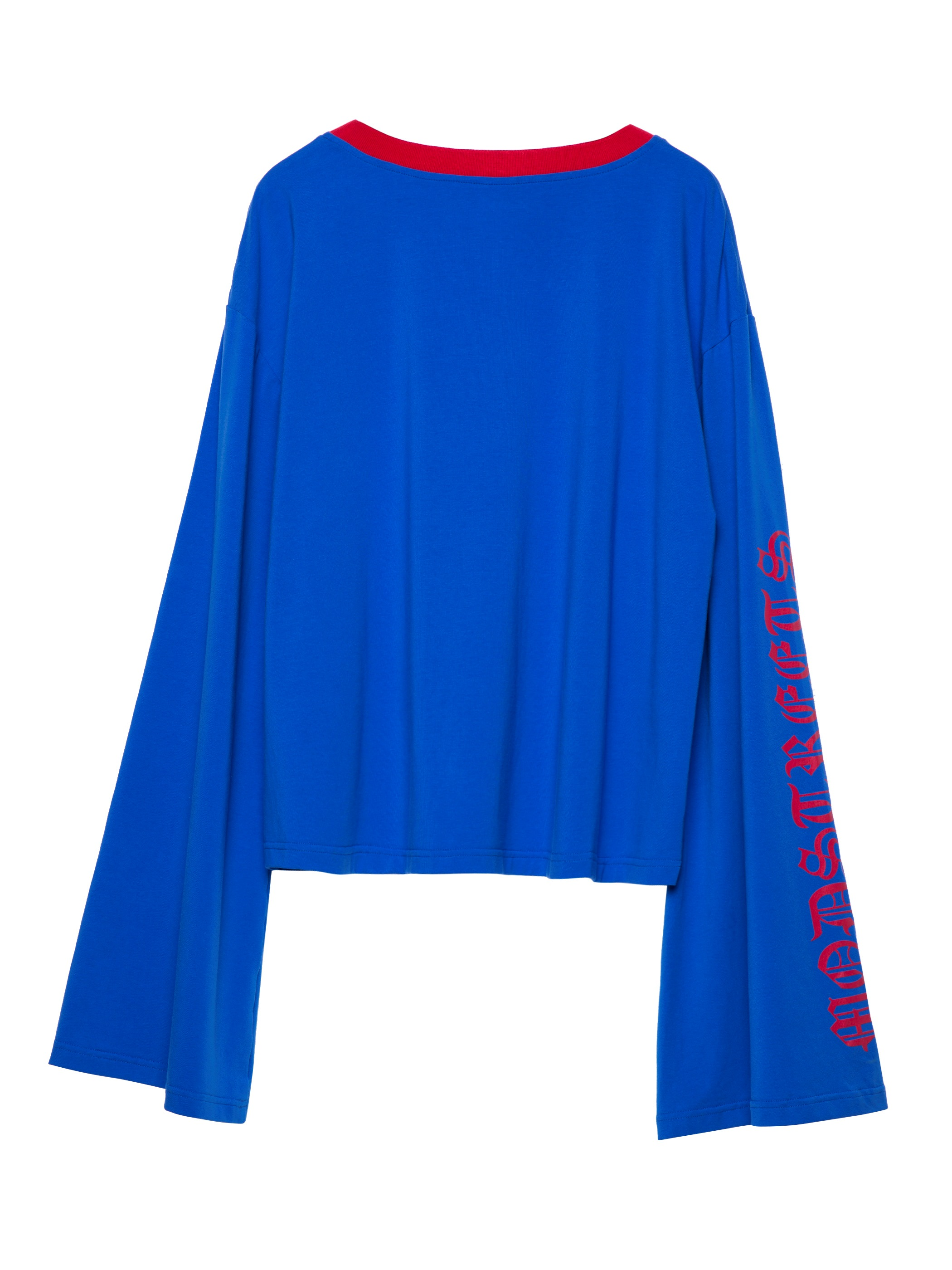 Ericdress Round Neck Letter Print Flare Sleeve T-shirt