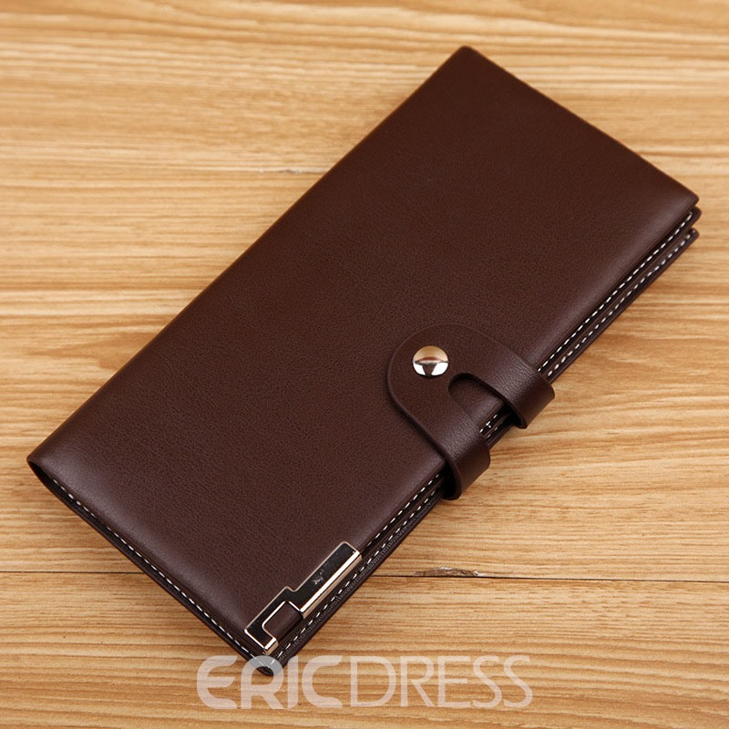 Ericdress Fahshion Buckle Long Type Men's Wallet
