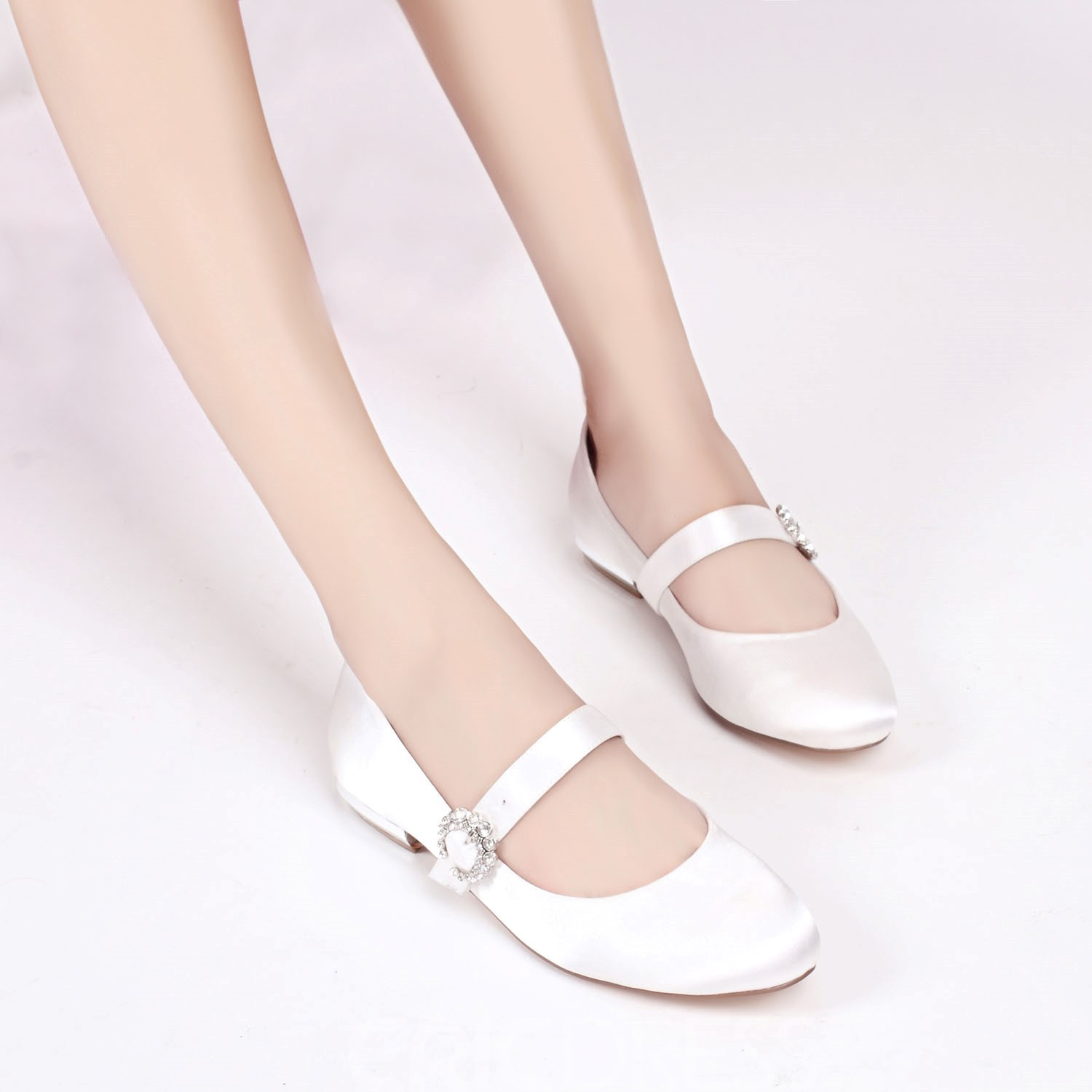Ericdress Round Toe Plain Wedding Shoes with Buckle