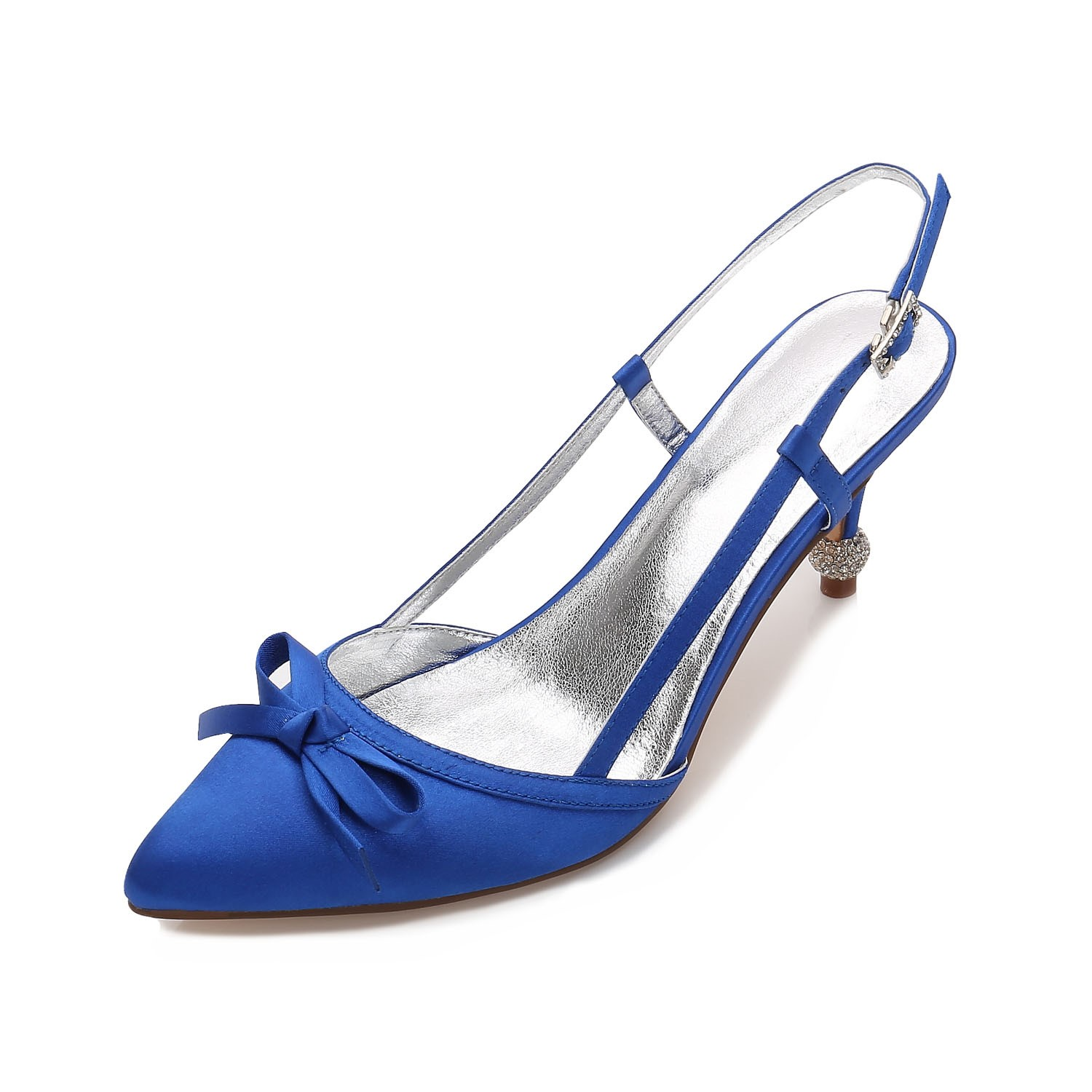 Ericdress Slingback Strap Stiletto Heel Wedding Shoes with Bowknot
