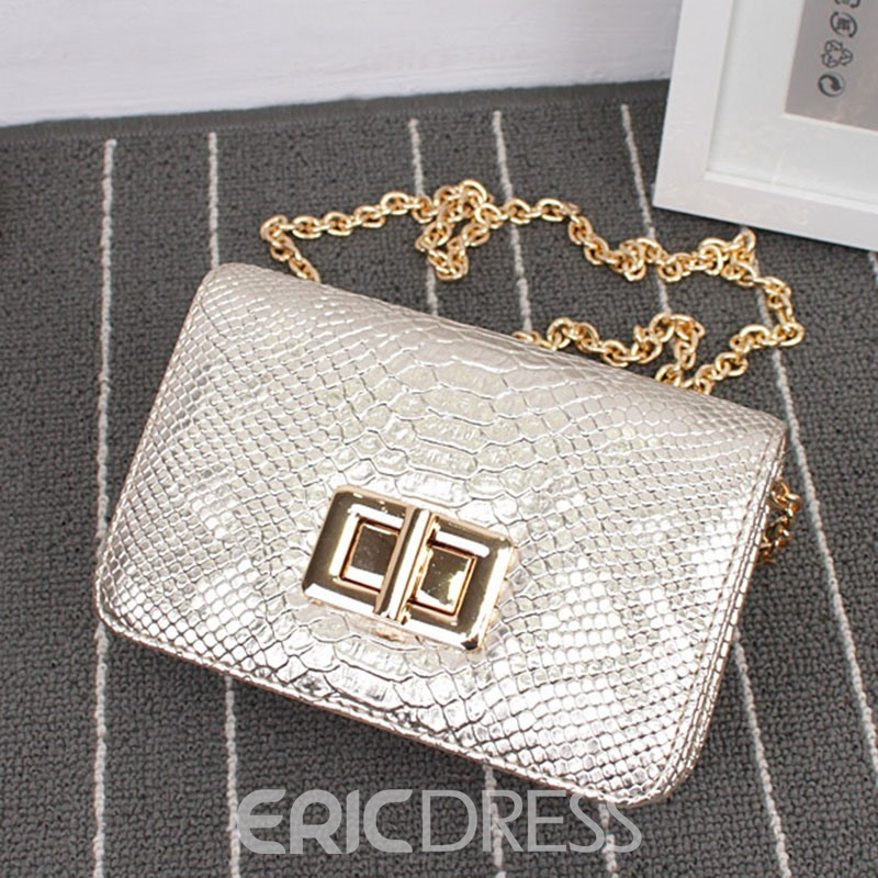 Ericdress Retro Serpentine Chain Crossbody Bag