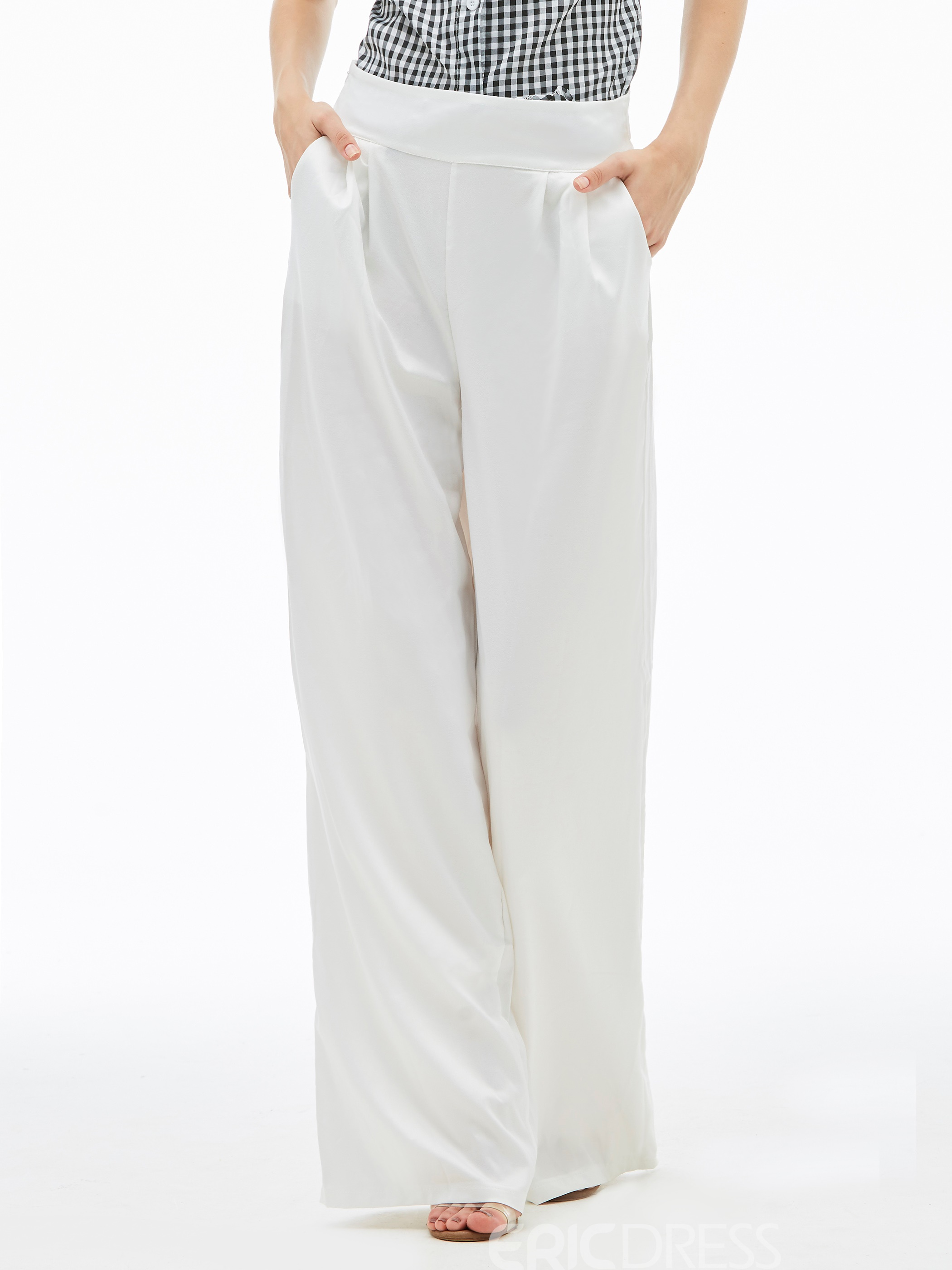 Loose High-Waist Wide Legs Women's Pants