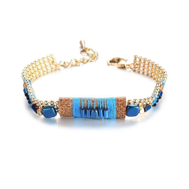 Ericdress Metal Blue String Bracelet for Women