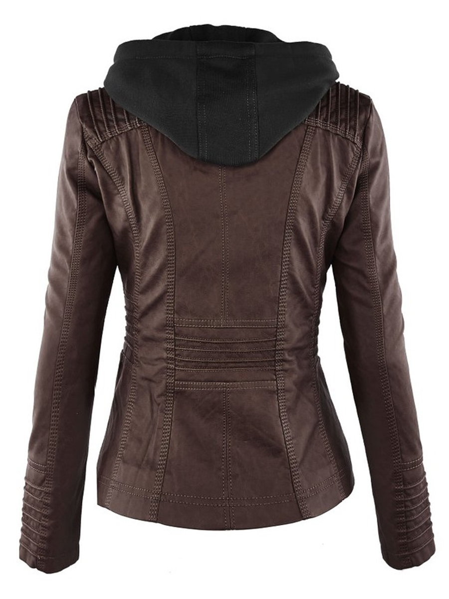 Ericdress Plus-Size Slim Double-Layer Hooded Jacket