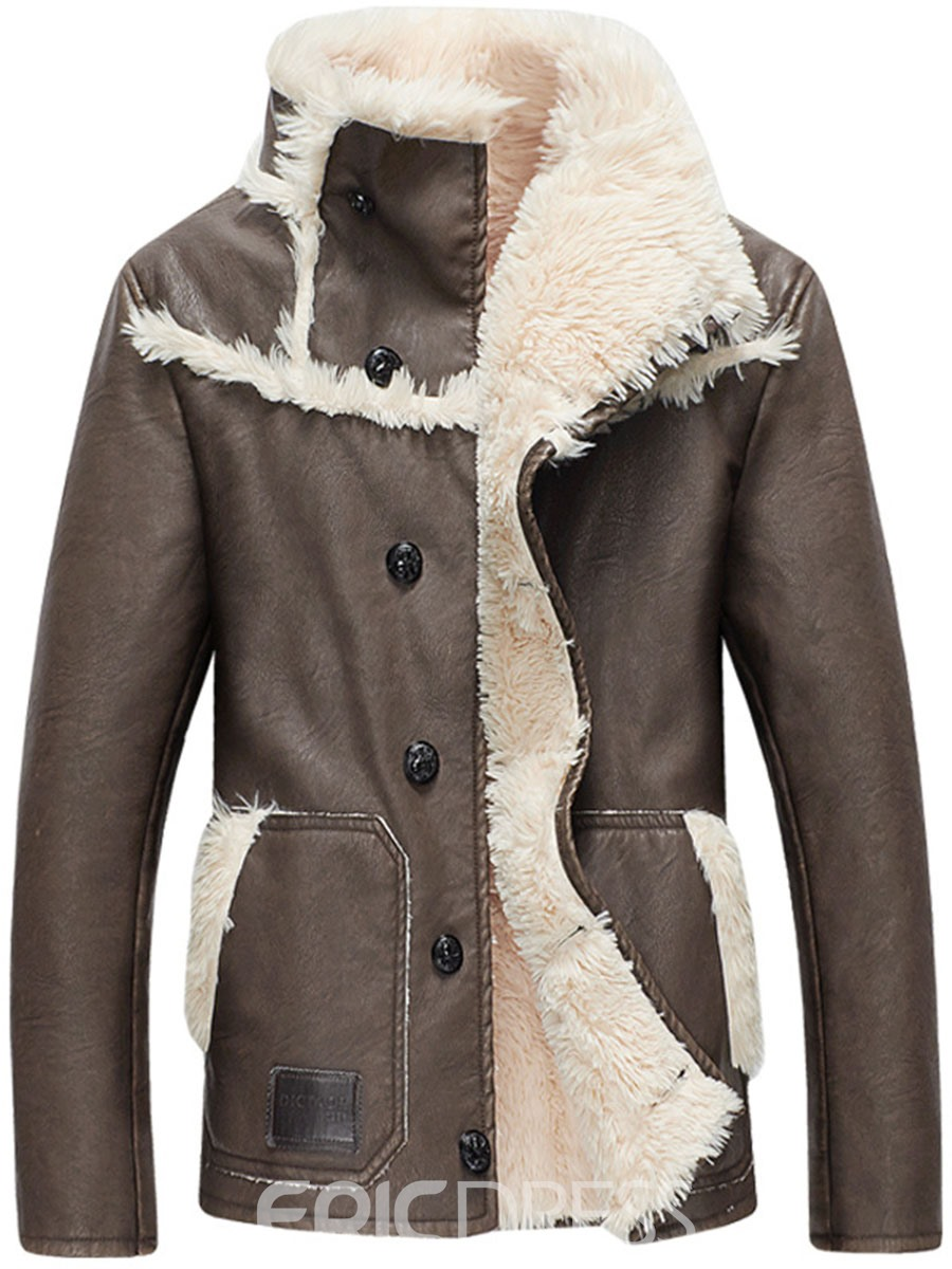 Ericdress Stand Collar Single-Breasted Winter Warm Down Men's Motor Coat