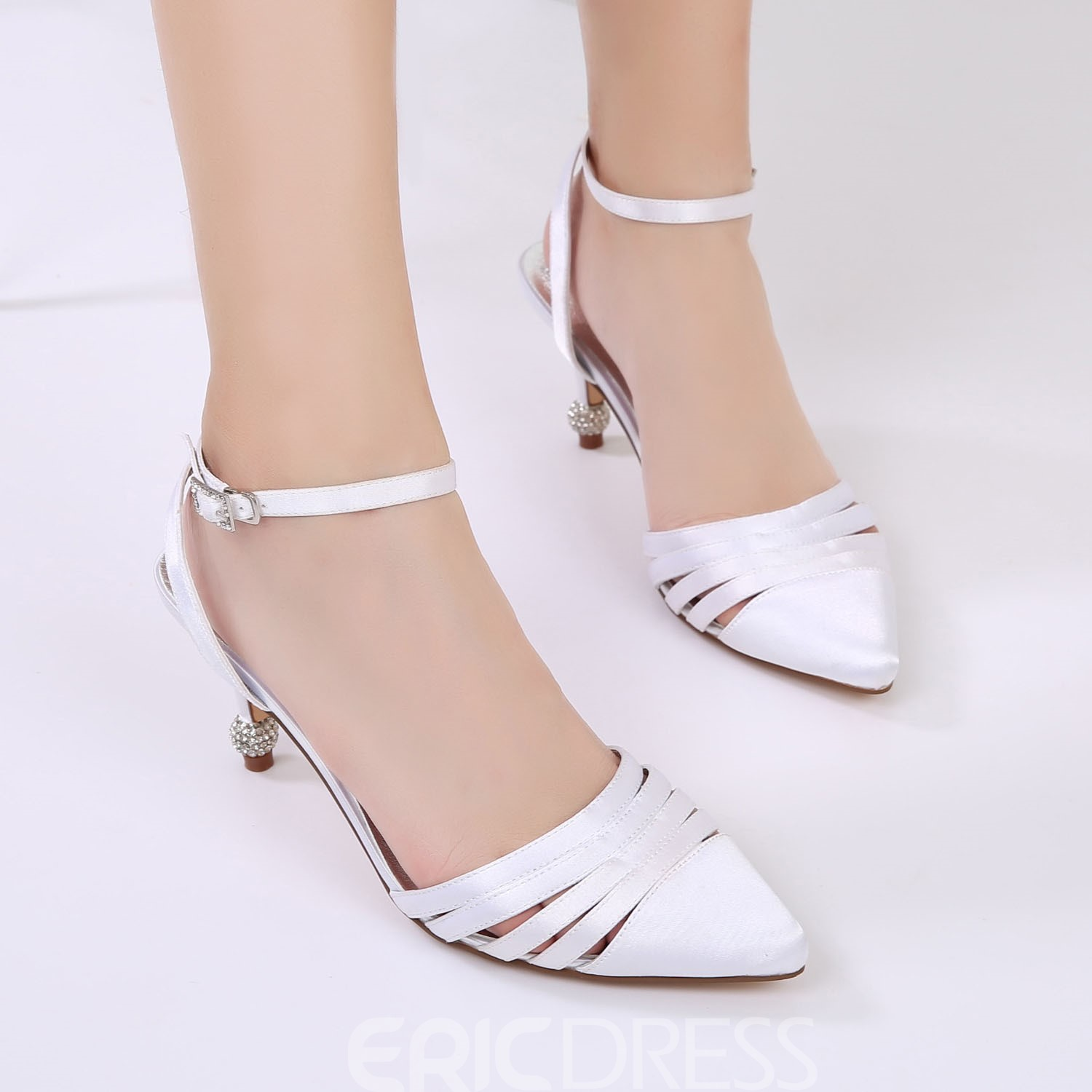 Ericdress Ankle Strap Plain Stiletto Heel Wedding Shoes