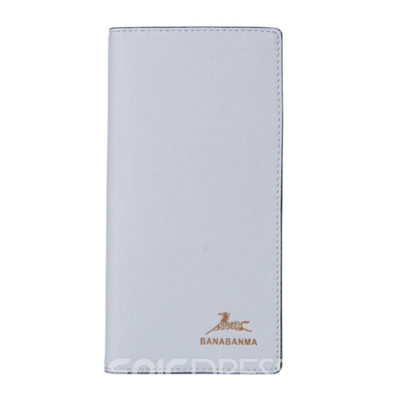 Ericdress Ultrathin Long Type Solid Color Men's Wallet