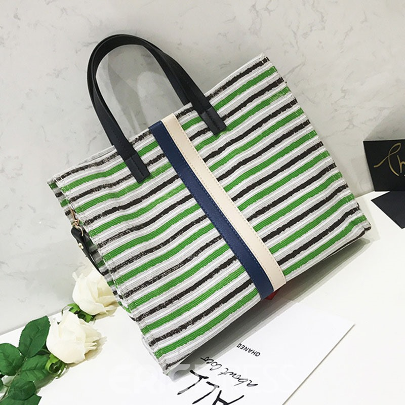 Ericdress Casual Colorful Stripe Pattern Crossbody Bag