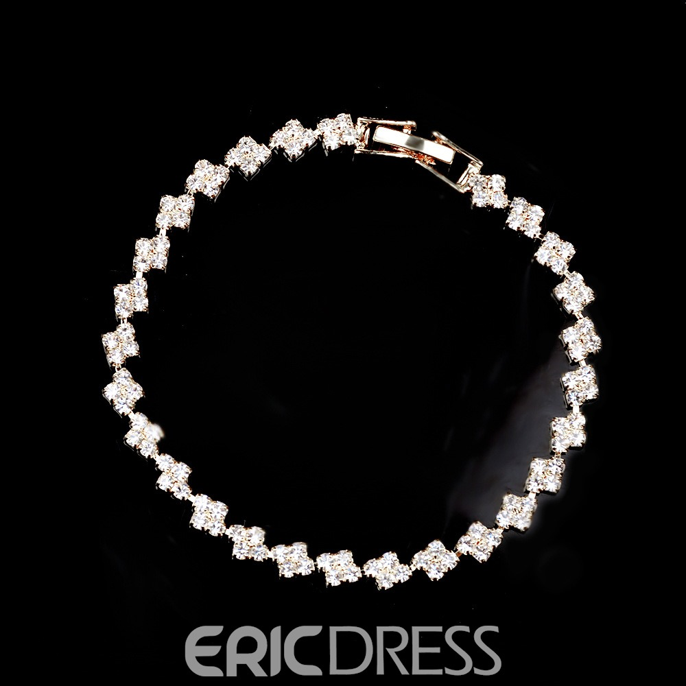 Ericdress European Style Sparkling Rhinestone All Match Bracelet for Women