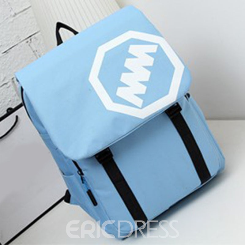 Ericdress Casual Letter Design Canvas Crossbody Bag