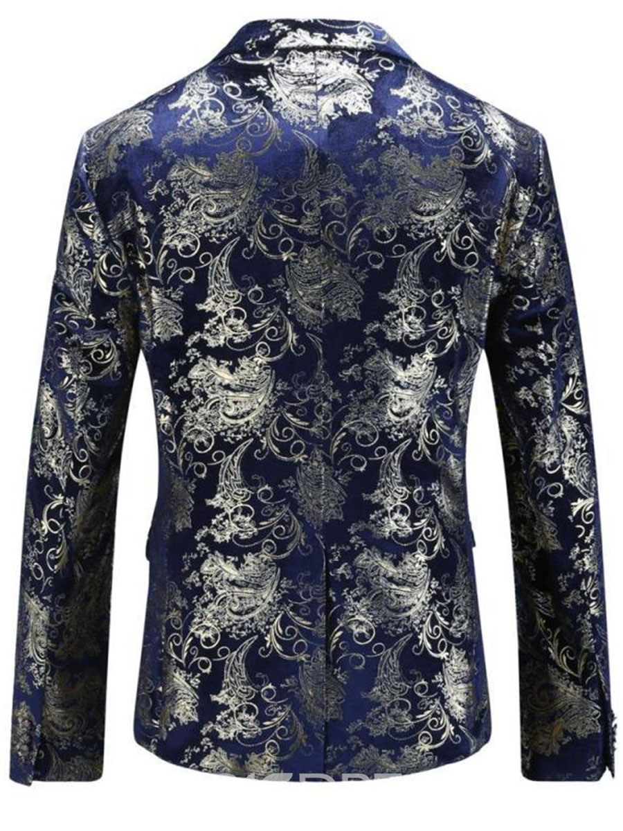 Ericdress Lapel Slim Vogue Print Slim Men's Blazer