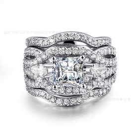 Ericdress Best Seller Three Layer High End Wedding Ring