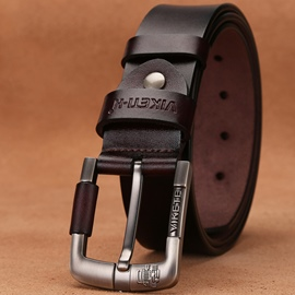 Ericdress Genuine Leather Pin Buckle Business Belt for Men