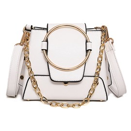 Ericdress Personality Circle Chain Design Crossbody Bag