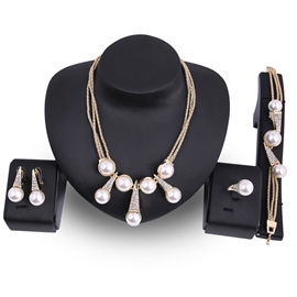 Ericdress Imitation Pearl Diamante Wedding Jewelry Set