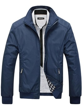 Ericdress Stand Collar Fashion Casual Loose Men's Vogue Jacket