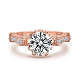 Ericdress Best Seller White Sapphire Created Rose Gold Wedding Ring