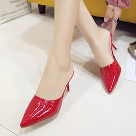 Ericdress Closed Toe Slip-On Plain Stiletto Heel Mules Shoes